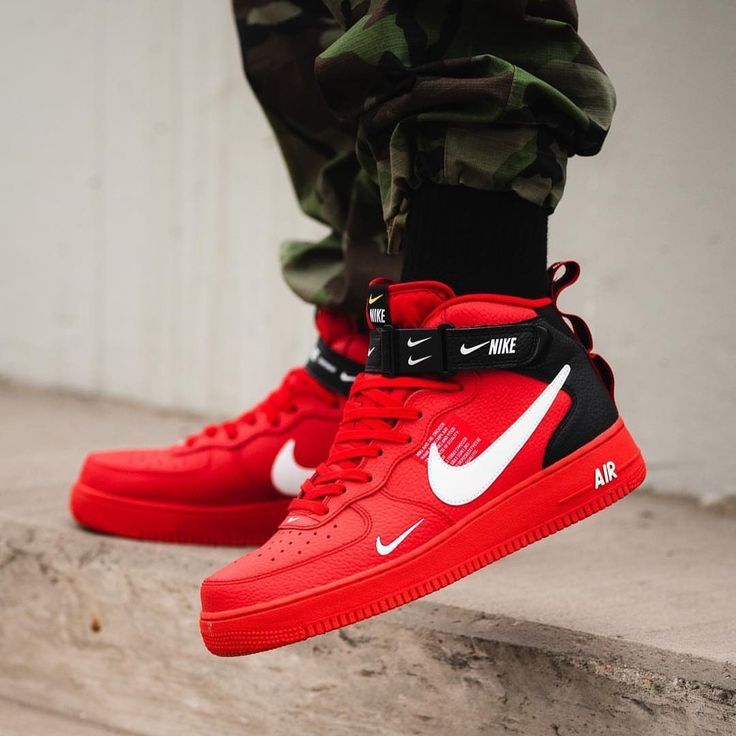 chaussures nike air force 1 rouge